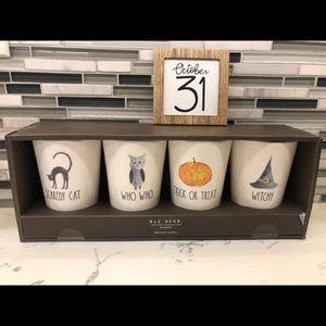 Rae Dunn Halloween cup tumbler SET of FOUR